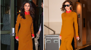 Selena Gomez and Victoria Beckham Had a Major Twinning Moment