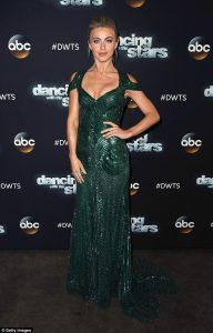 Julianne Hough dazzles on the red carpet in plunging emerald gown for Dancing With The Stars